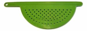 Hand Held Pot Drainer Pasta Noodle Veggie Strainer w/ Handle - Fits up to 9