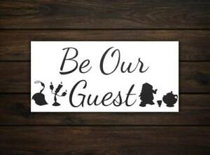 Be Our Guest Sign | Beauty and the Beast | Disney Wall Art | Disney Gifts