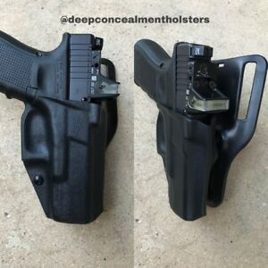 Deep Concealment Kydex Comp Glock  19172223 Holster WRMR Cut