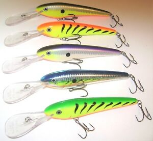 5 RARE RAPALA TTM-20 TROLLS-TO-20 MINNOW LURES ALL DIFFERENT COLORS