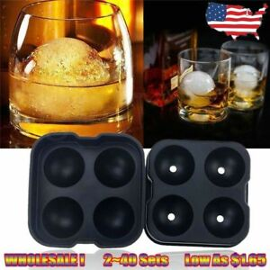 Whiskey Ice Cube Ball Maker Mold Sphere Mould Party Tray Round Bar Silicone AK