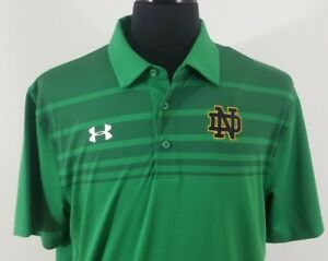 Notre Dame Under Armour Men's Large Polo Shirt Loose Heat Gear NWT New with Tags
