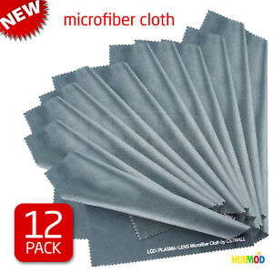 12 Pack Microfiber Cleaning Cloth LCD Screen Lens Camera Eyeglasses Glasses 8x8quot;