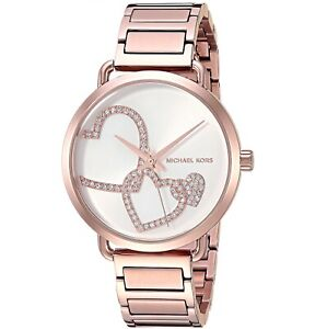 New Michael Kors MK3825 Portia Rose Gold-Tone Bracelet Women's Watch 36.5mm Case