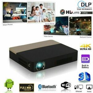 8500 Lumens Android 3D DLP 4K Projector Wifi Bluetooth 1080P Home Theater Cinema