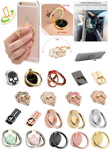 360° Rotating Metal Finger Ring Kickstand Stand Holder Universal Cell Phone Hook $8.09