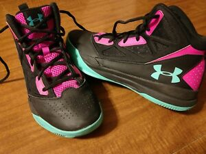 UNDER ARMOUR - BASKETBALL SHOES - GIRLS SIZE 6.5 - EXCELLENT CONDITION!