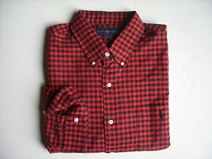 Men Polo Ralph Lauren Oxford Sport Shirt Red Size L - CLASSIC FIT - NWT