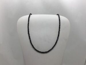 Diamond Necklace - 13CTW Black Diamond Necklace 14KT WG Clasp