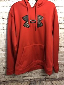 Men's Under Armour Storm 1 Hoodie XXL Red Camo Realtree *I