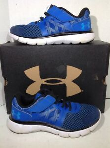 Under Armour Boys Size 1 BPS The Shift RN AC Blue Athletic Shoes Sneakers KQ-25