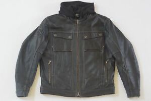 Harley Davidson Men's Generator Black Leather Jacket 3 in 1 Hoodie 97135-13VM