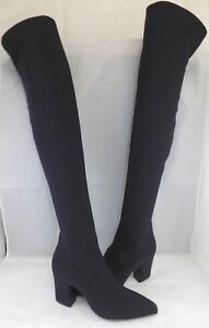giuseppe zanotti  boots black tissue size 8  woman 靴 over the knee