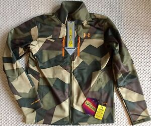 UNDER ARMOUR ColdGear Infrared Softershell Jacket Camo Green Storm M 1247045