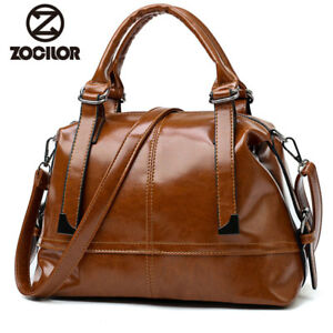 fashion wax oil pu leather bag ladies handbags women handbag designer handbag Us