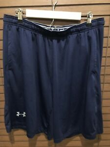 Mens Under Armour Loose Fit Navy Athletic Shorts Size XL Dry fit fabric