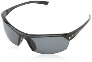 Under Armour Zone 2.0 Shiny Black Frame with Black Rubber and Storm (ANSI) Gray