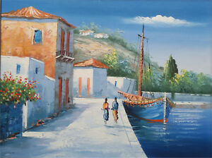 Antique beautiful Original of Greece picture of an very talented artist