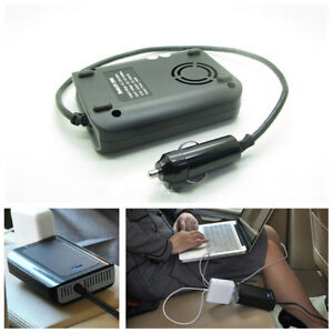 Ultrathin 1X Car Power Inverter Converter DC12V To 220VAC Laptop Charger Adapter
