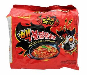 SAMYANG Korean Fire Challenge Buldak Noodle 2X Hot Spicy Chicken Flavor Ramen