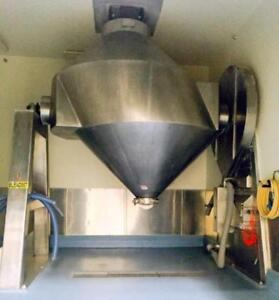 250 Cu. Ft. Stainless Steel Gemco Conical Mixer