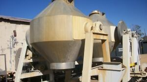 100 Cu. Ft. Stainless Steel Gemco Conical Mixer