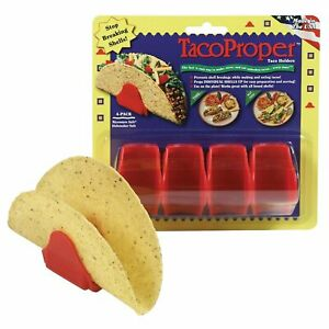 Taco Proper Hard Shell Holders 4 Shell Stand Pack Propers Made in the USA