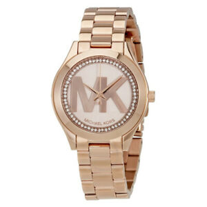 100% New Michael Kors MK3549 Runway Rose Gold-Tone Bracelet Women's Watch 33mm