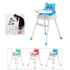 4in1 Foldable Baby Cute High Chair Toddler Table Seat Booster Feeding High Chair