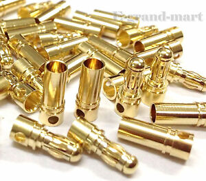 40 Pairs 3.5mm Gold Bullet Connector Plug Male & Female for RC drone ESC Motor