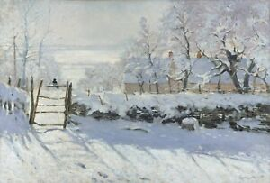The Magpie by Claude Monet Giclee Canvas Print in various sizes $14.99