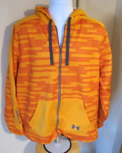 Men's XL Under Armour Full Zip Orange Hoodie