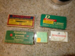 VINTAGE AMMO BOXES WINCHESTER REMINGTON