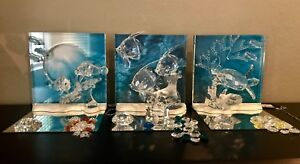 Swarovski WONDERS OF THE SEA New MIB Trilogy Set Plus Trilogy Extras