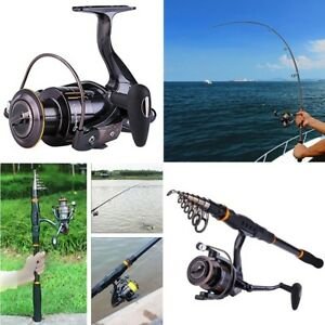 NEO Sougayilang Fishing Rod And Reel Combos Spinning Reel Kit For Adults Kids