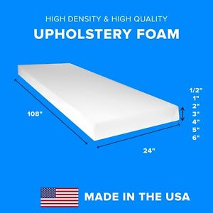 High Density Upholstery Foam Seat Couch Cushion Replacement - 24