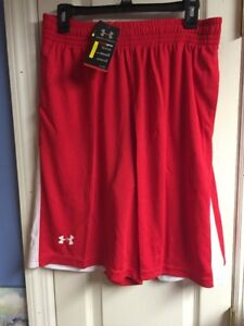 UNDER ARMOUR XL MENS PERFORMANCE SHORTS LARGE RED