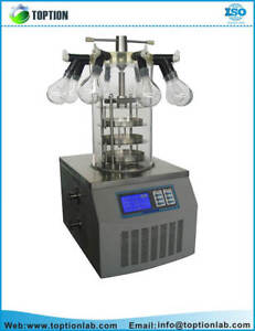 TOPT-10D Multi-pipe top-press vacuum freeze dryer Lyophilizer 1yr Warranty