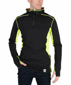 Nike Pro Combat Hyperwarm Dri FIT Max Hooded Running Shirt BlackVolt 2XL - CC