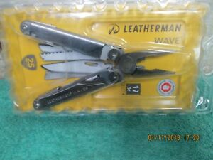 New Leatherman Wave 830837 17 in 1 Multi Tool w Nylon Sheath