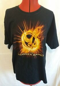 THE HUNGER GAMES OFFICIAL T-SHIRT MOCKINGJAY BK COTTON CAP SLEEVE LADIES size XL