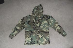 Military Small Regular Parka Cold Weather Field Jacket BDU Woodland Unisex #81