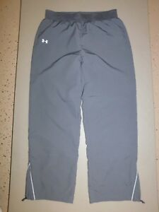 Under Armour L women's gray Loose fit lightweight basketball track workout pants