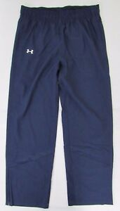 Under Armour Womens Storm1 Track Pants L Water Resistant Loose Elastic Waist New