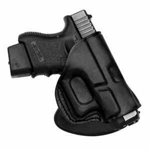 Rotating Quick Draw Leathe Paddle Holster Fits Glock 172231 Right Hand