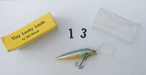 Tiny LUCKY LURE Bill Minster Vintage Topwater Color Yellow White Blue RARE