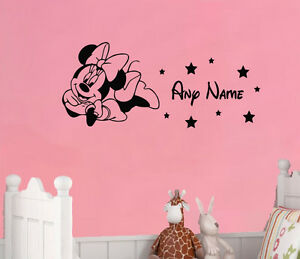 Minnie Mouse Custom Personalise In Disney Style Art Decal Sticker Picture Poster