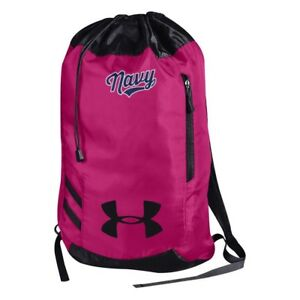 Under Armour U.S. NAVY Trance Sackpack Color Pink NEW W TAG