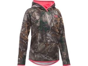 NWT Girls Under Armour Storm Realtree Camo Hunting Hoodie Youth L