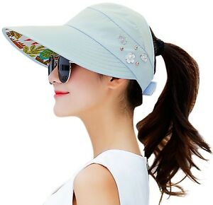 HindaWi Sun Hats For Women Wide Brim UV Protection Visor Floppy Packable Womens